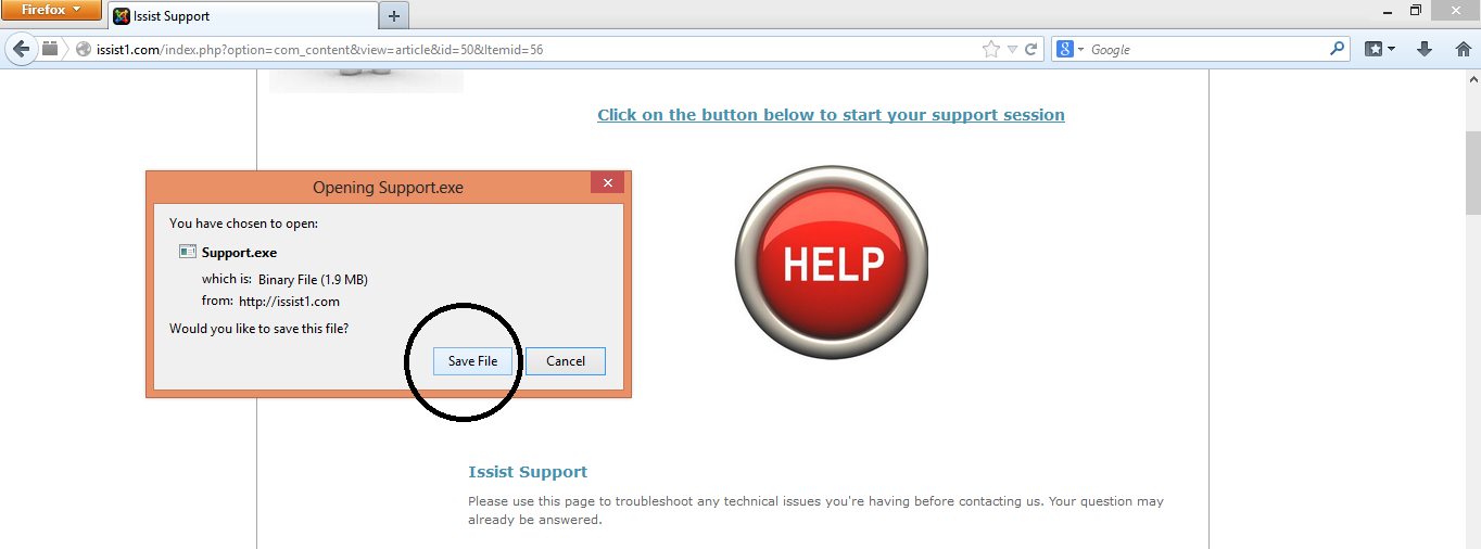 This is Step 2 of the support ID process