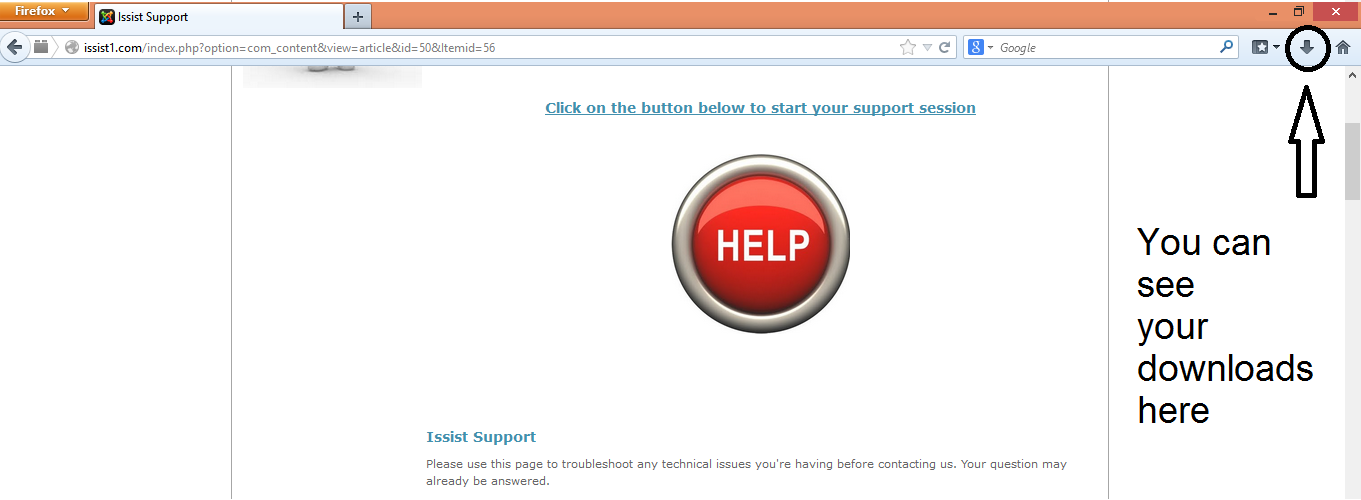 This is Step 3 of the support ID process