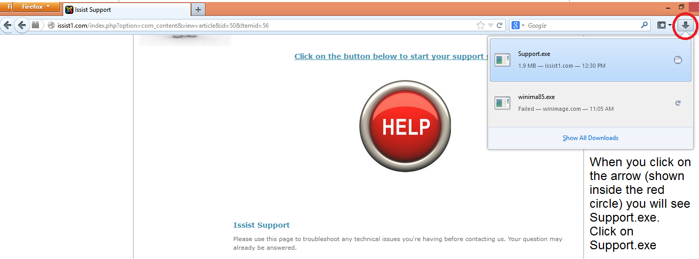 This is Step 4 of the support ID process